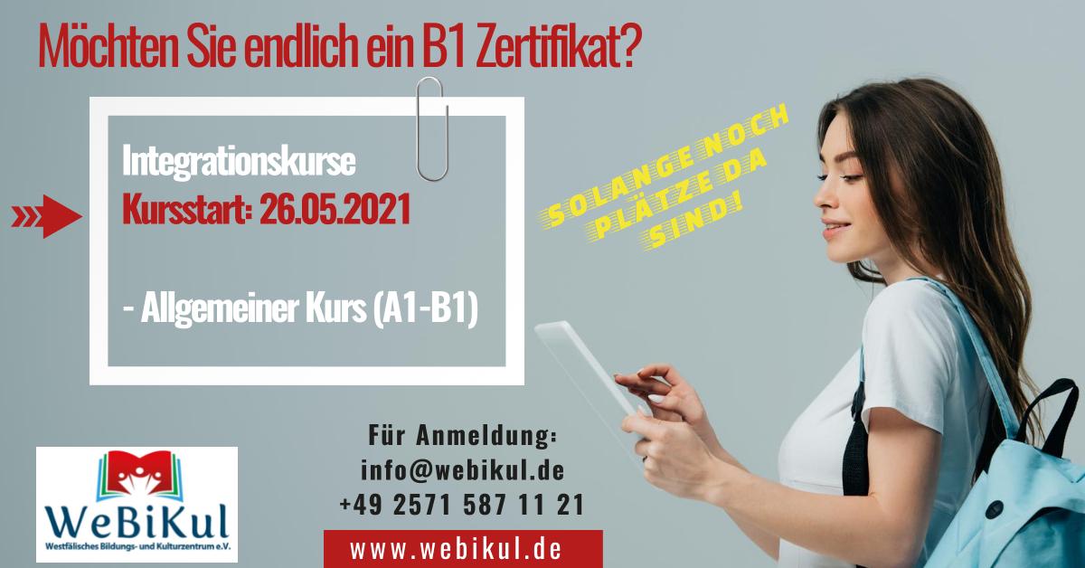 Flyer - WeBiKul - Allgemeiner Integrationskurs ab 26.05.21