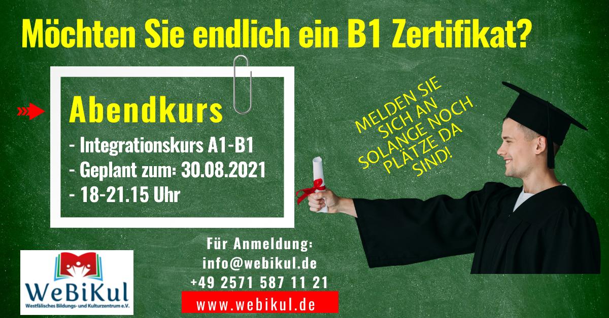Flyer - Webikul - Abendkurs ab 30.08.21 geplant